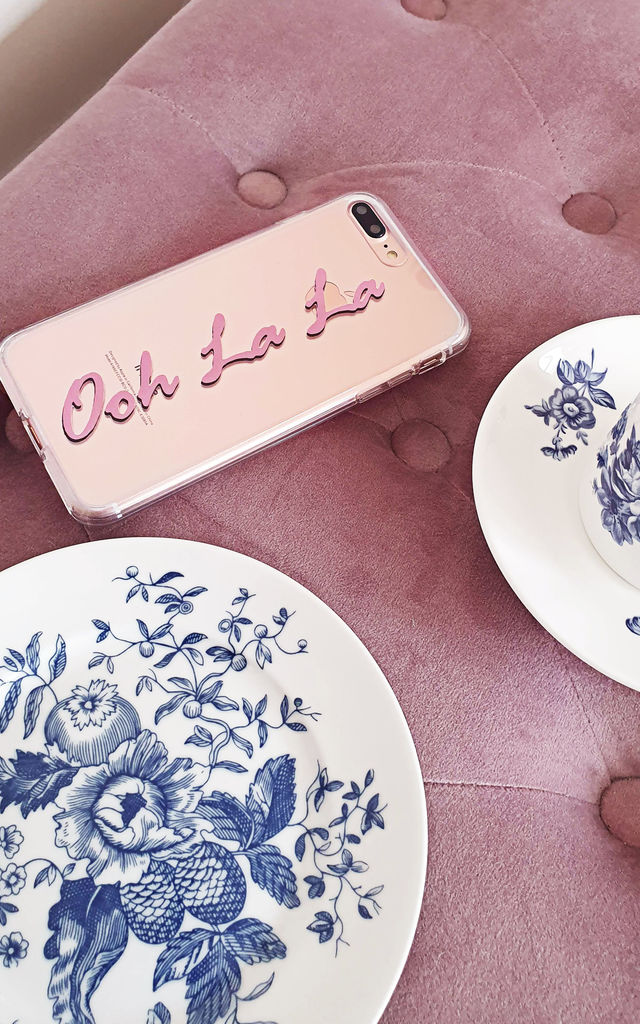 Ooh la la clear phone case by Rianna Phillips