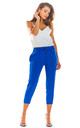 Slim Fit Cropped Trousers in Cobalt Blue by AWAMA