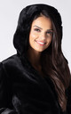 HOODED FAUX FUR JACKET IN BLACK by Dursi