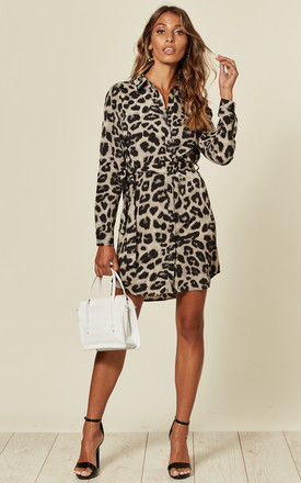 Grey Animal Print Shirt Dress by AX Paris Product photo