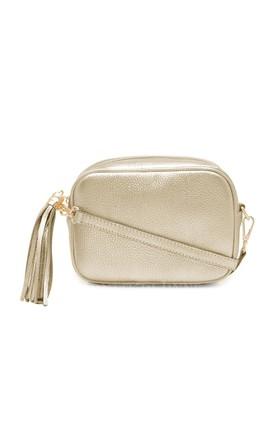 Leather Camera Bag with Tassel - Gold by Tonic Lifestyle