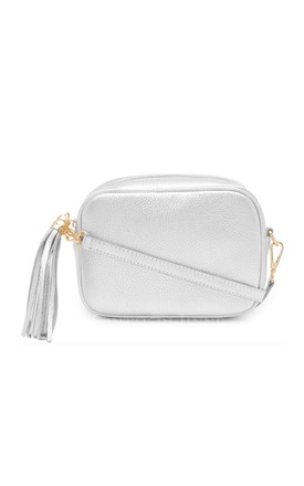 Leather Camera Bag with Tassel - Silver by Tonic Lifestyle