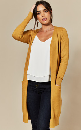Longline Cardigan With Pockets In Yellow by JDY Product photo