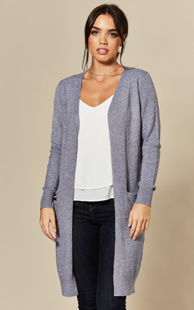 Longline Cardigan With Pockets In Steel Grey by JDY Product photo