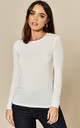 Long Sleeve Top in White by VM
