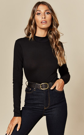 Fitted Turtleneck Top In Black by JDY Product photo