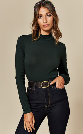 Fitted Turtleneck Top In Dark Green by JDY Product photo