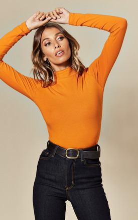 Fitted Turtleneck Top In Orange by JDY Product photo
