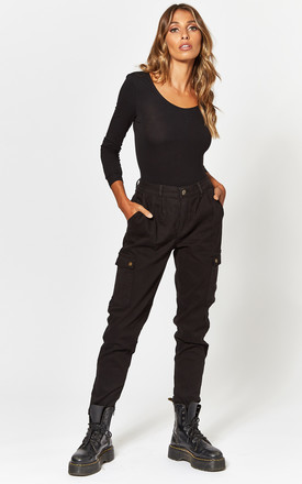 Cargo Trouser In Black by Noisy May Product photo