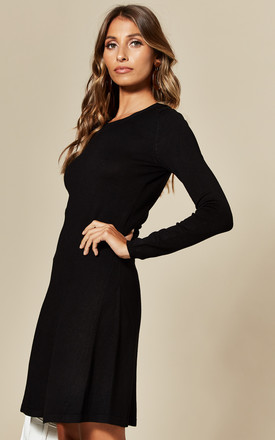 Knitted Mini Dress in Black by Pieces