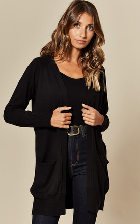 Loose Fit Long Sleeve Cardigan In Black by JDY Product photo