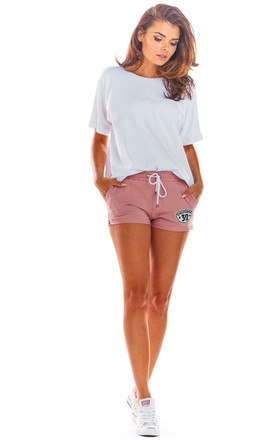 Cotton Shorts with Pockets in Pink by AWAMA