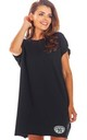 Oversized Mini Dress with Low Back in Black by AWAMA