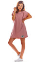 Oversized Mini Dress with Low Back in Pink by AWAMA