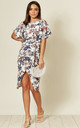 Stenicla Judith Batwing Wrap Dress in Floral Print by Missfiga