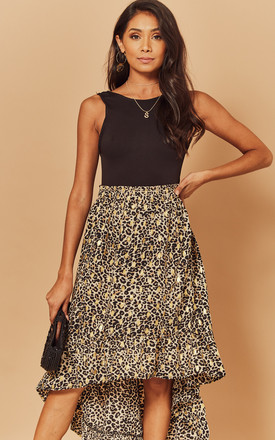 High Low Skirt in Leopard by Foreva Young