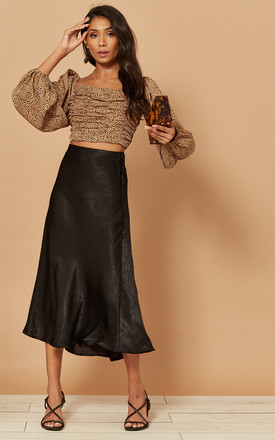 Midi Slip Skirt In Black by Foreva Young Product photo
