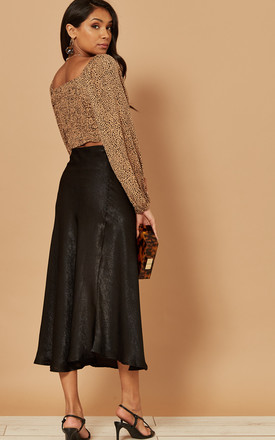 Midi Slip Skirt in Black by Foreva Young