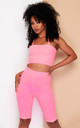 KIM cycle shorts & top co-ord in neon pink by DX BOUTIQUE