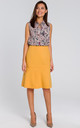 Lined Flared Skirt in Yellow by MOE