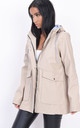 Waterproof hooded rain mac in beige by LILY LULU FASHION