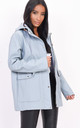 Waterproof hooded rain mac in grey by LILY LULU FASHION