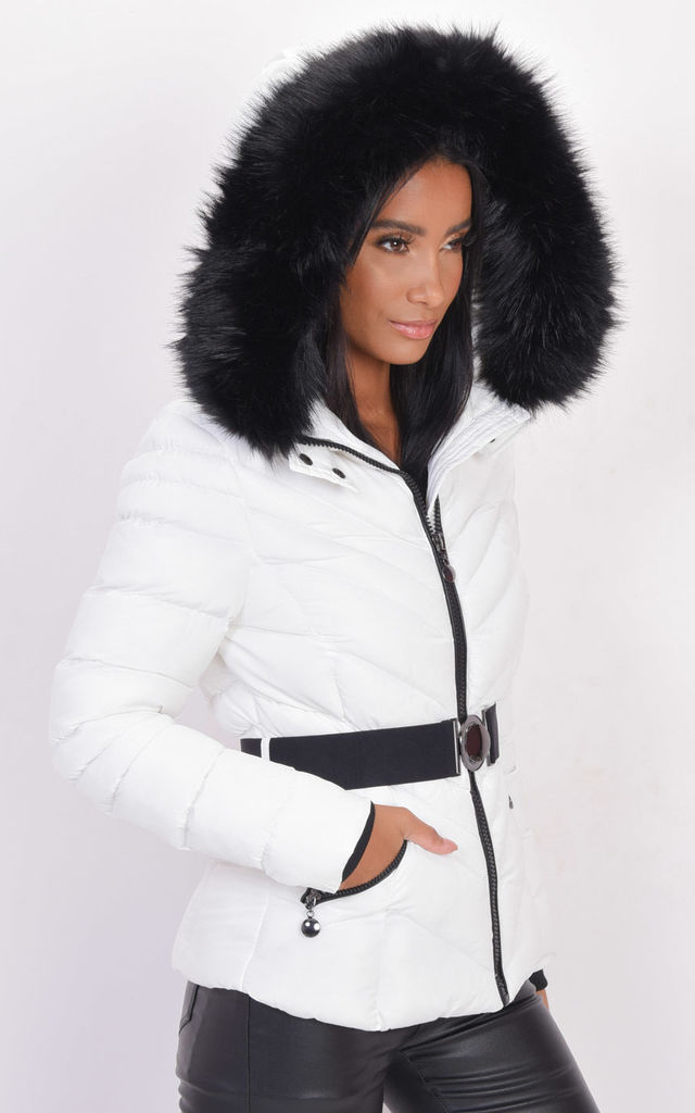 White Quilted Parka