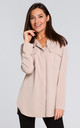 Long Sleeve Relaxed Fit Shirt in Beige by MOE