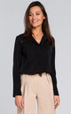 Long Sleeve Relaxed Fit Shirt in Black by MOE