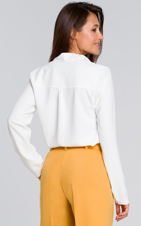 Long Sleeve Relaxed Fit Shirt in White by MOE