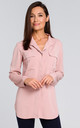 Long Sleeve Relaxed Fit Shirt in Powder Pink by MOE