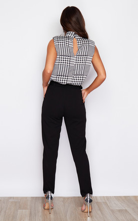 Bria Buckle Belted Trouser Black by Girl In Mind