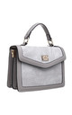 SNAKE PRINT TOP HANDLE FLAP OVER BAG GREY by BESSIE LONDON