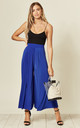 Cobolt Blue High Waisted Wide Leg Culottes by Verso Fashion