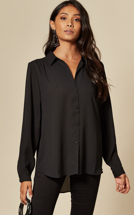 Button Front Shirt In Black by VILA Product photo