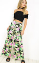 Breeze Palazzo Pants In Green Tropical Print by Oops Fashion