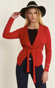 Daryl Waterfall Cropped Jacket In Red by Oops Fashion