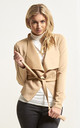 Daryl Waterfall Cropped Jacket In Camel by Oops Fashion