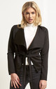 Daryl Waterfall Cropped Jacket In Black by Oops Fashion