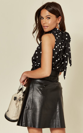 Elly High Neck Sleeveless Blouse Polka Dot by Girl In Mind
