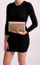 Dinah Gold Metallic Edge Envelope Clutch by KoKo Couture