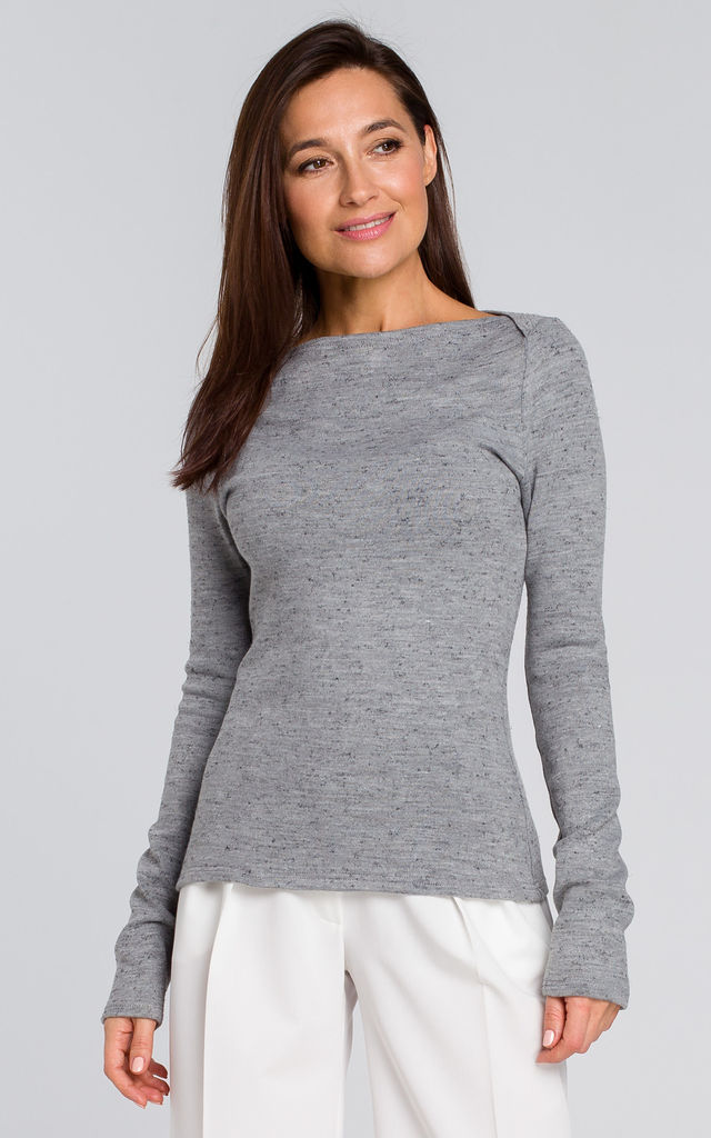 Classic Fitted Jumper in Grey by MOE