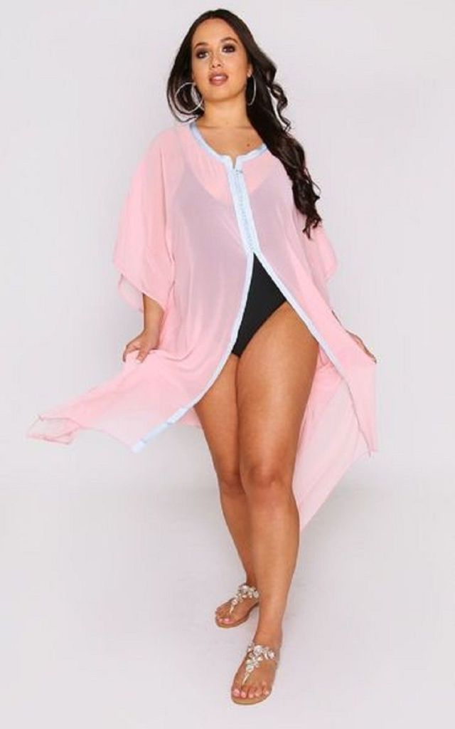 TRESSY KAFTAN COVER UP IN PINK AND BLUE by Diamantine