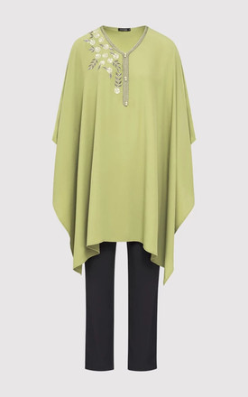 SHIFRA TOP & TROUSERS CO-ORD IN GREEN by Diamantine