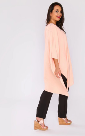SHIFRA TOP & TROUSERS CO-ORD IN SALMON PINK by Diamantine