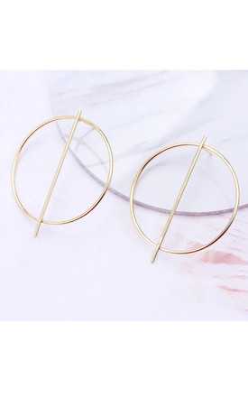 Oversize Gold Bar Hoop Earrings by Always Chic