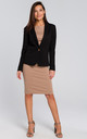 Short Blazer with Single Button in Black by MOE