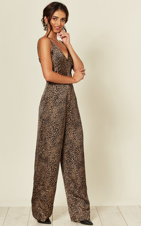 Black Printed Cami V Neck Jumpsuit by AX Paris