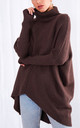 Callie Knit Jumper - Dark Brown by Pretty Lavish
