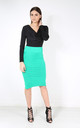 Hailsee High Waisted Midi Pencil Skirt In Teal by Oops Fashion